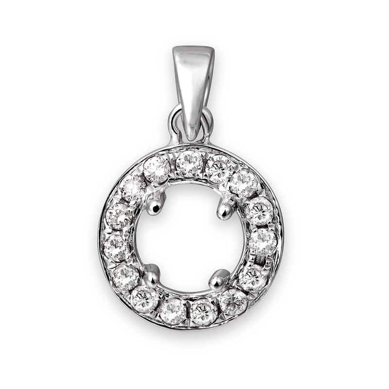 Pendant mountings settings zaveri jewelers center stones give you a large opportunity to be creative you can pick from a long list of gemstones or colored diamonds that we can get for you aloadofball Images